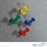Set de punaises en couleurs transparentes 40pcs.